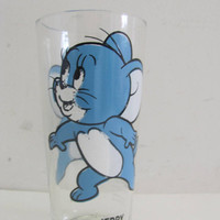 vintage Jerry Pepsi Series Collectors Cups / tall vintage glass.