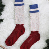 Cozy on Campus Sock - Red