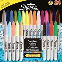 Sharpie Fine Point Permanent Markers, 24 Colored Markers
