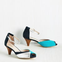 Marvels of Moxie Heel in Night | Mod Retro Vintage Heels | ModCloth.com