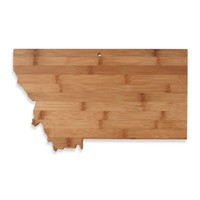 Totally Bamboo Montana State Shaped Cutting/Serving Board