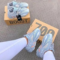 ADIDAS yeezy 700 v2 hot sale color matching men and women basketball shoes sports sneakers-3