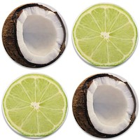 Lime & Coconut Coaster - Set of 4