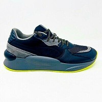 PUMA RS 9.8 Black Gray Fluorescent Yellow Mens Size 9 Trail Sneakers 371321 02