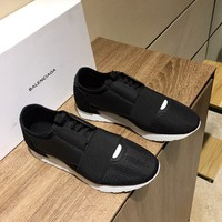 Balenciaga, Men Fashion Boots fashionable Casual leather Breathable Sneakers Running Shoes