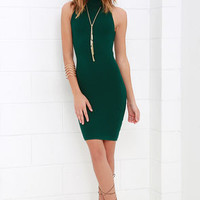Figure Eight Dark Green Bodycon Dress