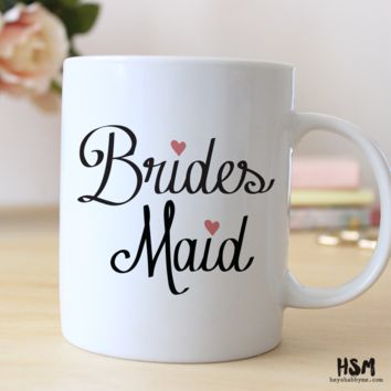 Mother of the Bride // Father of the Bride // Maid of Honor, Matron of Honor // Bridesmaid // 15 oz Coffee Mug // Wedding Party Gift