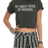 No Such Thing As Normal Girls Crop Top