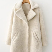 Faux Fur Double Breasted Coat