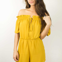 Valley View Off Shoulder Playsuit