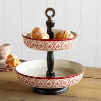 RED FLOWER TWO-TIER EPERGNE         -                Tabletop         -                Furniture & Decor         -                Categories                       | Robert Redford's Sundance Catalog