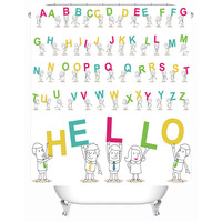 Funny Educational Alphabet Letters & Other Shower Curtains
