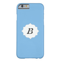 ADD YOUR INITIAL HERE! AERO BLUE 1 IPHONE 6 CASES iPhone 6 CASE