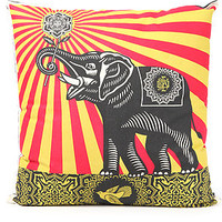 The Obey Peace Elephant Pillow