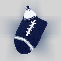 Dallas Cowboys Inspired Football Baby Cocoon & Hat (Newborn to 3 months)