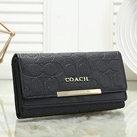 Coach Women Fashion Leather Envelope Purse Wallet