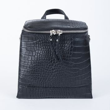 Snakeskin Mini Backpack