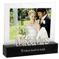 Malden Celebrated Moments Black Wood Picture Frame, Mr. and Mrs., 5 by 7-Inch