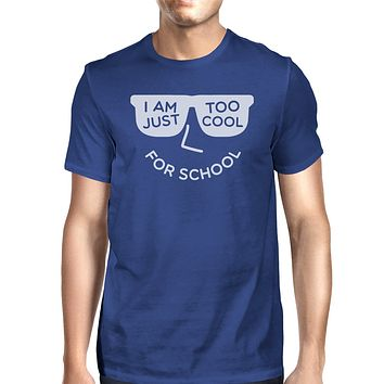 Too Cool For School Mens Blue Shirt