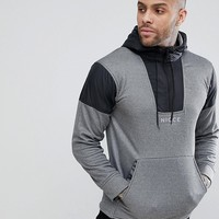 Nicce London Track Hoodie In Grey With Half Zip at asos.com