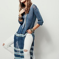 Free People Womens Washed Ashore Henley