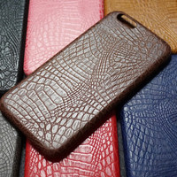 Crocodile Pattern iPhone 7 7 Plus & iPhone 6 6s Plus & iPhone 5s se Case Personal Tailor Cover + Christmas Thanksgiving Gift Box-476