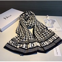 Dior Fashion Men Women Letter Print Cashmere Scarf Scarves