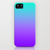 PURPLE & TEAL FADE iPhone Case by nataliesales   Society6