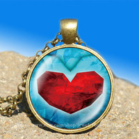 life Zelda heart container vintage pendant -necklace ready for gifting Buy 3 and get the 4th one free