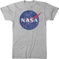 NASA Space Program Meatball Logo Men's Crew Neck Tri-Blend T-Shirt