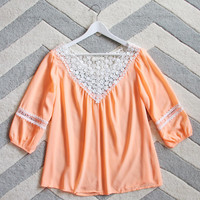 Sugared Breeze Blouse in Peach