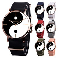 Unique Silhouette Chart Wristband Quartz Analog Number Free Wrist Watch Gift