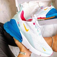 Nike Air Max 270 3rd Generation Nike 270 3rd Generation Shoes Half Palm Air Cushion Mesh Surface Breathable Men's and Women's Casual Sneakers 5