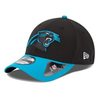 Men's Carolina Panthers New Era Team Classic 39THIRTY Flex Black Hat