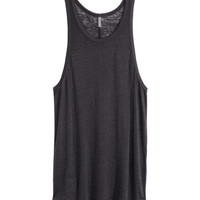 Burnout-patterned Tank Top - from H&M