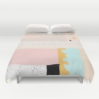 On the wall#3 Duvet Cover by RK // DESIGN