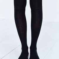 Ribbed-Cuff Over-The-Knee-Sock-