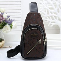 Men Fashion Leather Chest Bag Satchel Single Shoulder Bag