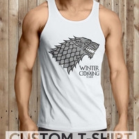 Winter Is Coming Game Of Thrones Men Tanktop - tri1 Tanktop For Men  / Custom - Tanktop / Men Tanktop