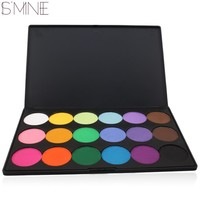 18 Colors Matte Earth Tone Metallic Smoky Pigment Highlight Bright Colors Eye Shadow Eyeshadow Powder Makeup Palette