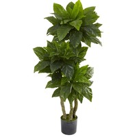 SheilaShrubs.com: 5' Bird Nest Tree UV Resistant (Indoor/Outdoor) 5391 by Nearly Natural : Indoor Garden Decor Silk Trees & Plants
