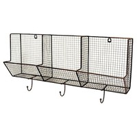 Wire Basket with Hooks 12x24 - 3-Slot
