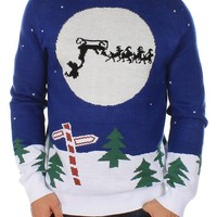Ugly Christmas Sweater - Runaway Sleigh Sweater by Tipsy Elves
