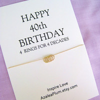 40th BIRTHDAY GIFT. 14k Solid Gold Necklace.  Birthday gift for Sister, Solid Gold Mini Eternity necklace, Gift For Her.