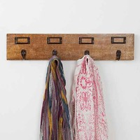 Card Catalog Wall Hook- Brown One