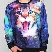 Cat In Space Pullover Sweatshirt - Purple