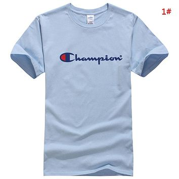 Champion New fashion letter print couple top t-shirt 1#
