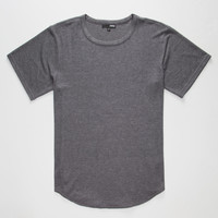 Elwood Super Soft Curved Hem Mens T-Shirt Charcoal  In Sizes