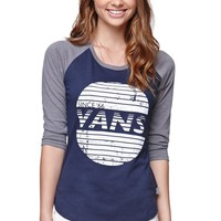 Vans Sunset Ray Raglan T-Shirt - Womens Tee - Brown/Walnut