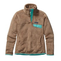 Patagonia Women's Re-Tool Snap-T® Fleece Pullover | Light Sesame - Bear Brown X-Dye